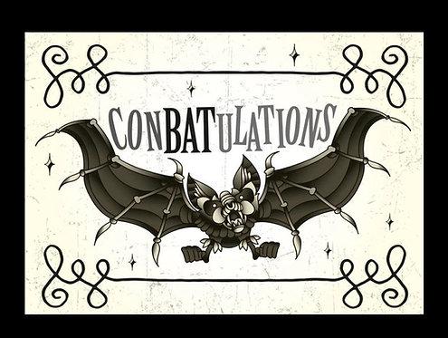 Conbatulations bat greeting card / The Crafty Burreato
