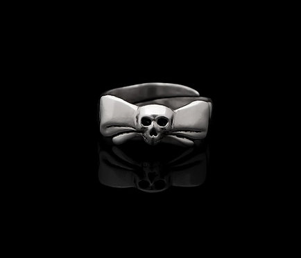Bow Skull ring / Rock'n'Gold