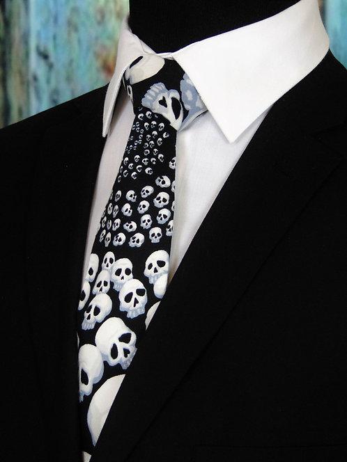 Small Skulls necktie, black'n'white