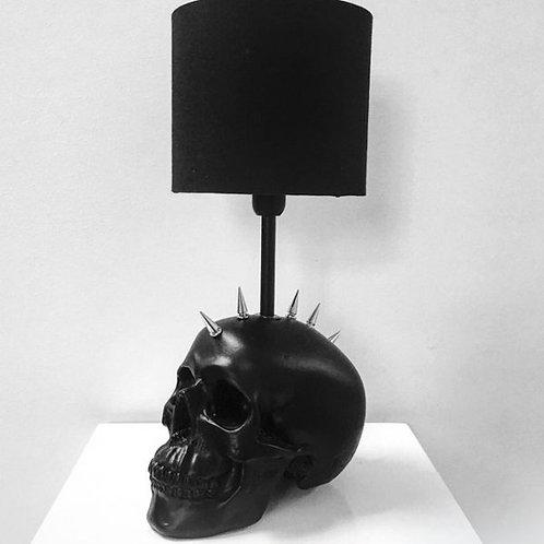 Black Mohawk Skull Lamp
