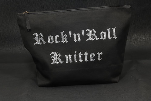 Rock'n'Roll Knitter pouch / Deadly Daisies