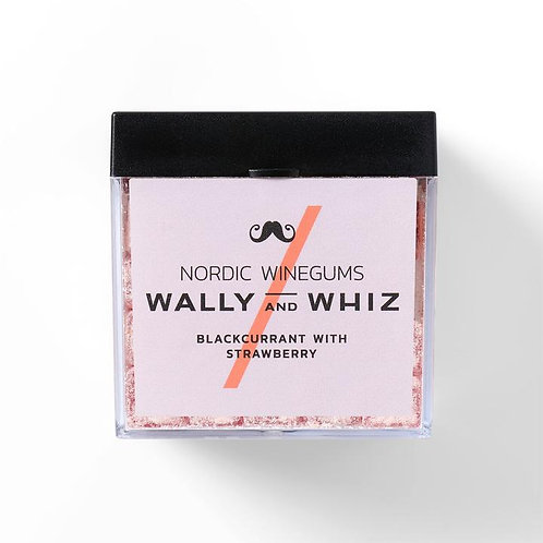 WALLY and WHIZ vegan winegums / blackcurrant with strawberry