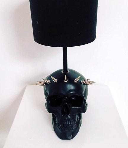 Black Liberty Skull Lamp