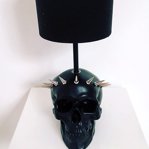 Black Liberty Skull Lamp