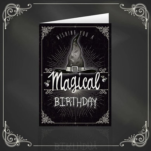 Magical Birthday dark & gothic greeting card / The Crafty Burreato