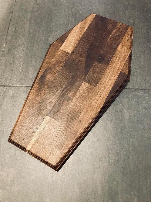 SmokedHandmade Coffin Shaped Chopping Board / Krull Snedkeri