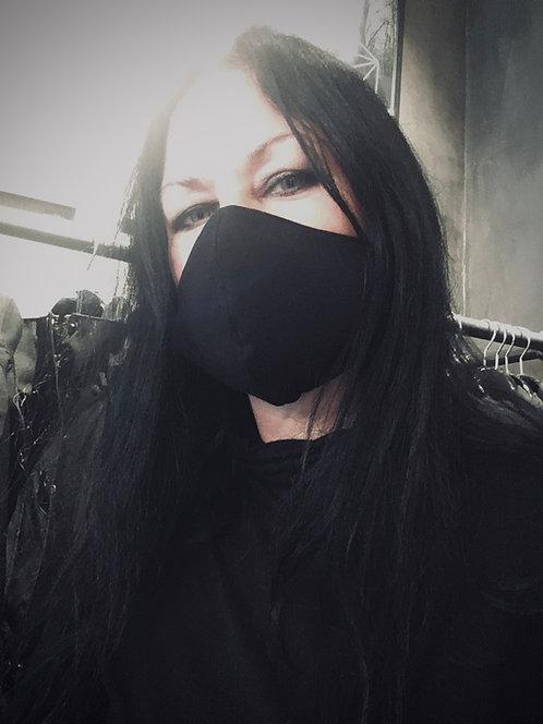 Face mask black, oeko-tex / LÖVENDAHL