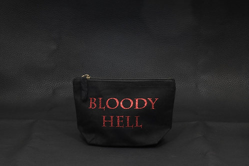 Bloody Hell glitter pouch / Deadly Daisies