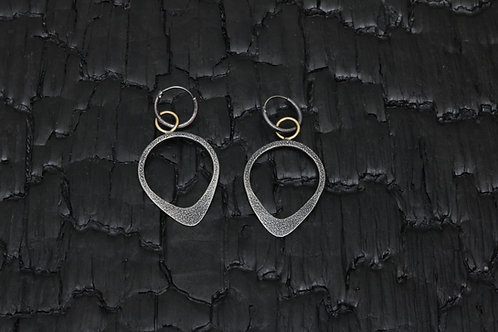 One-of-a-kind Stheno silver/gold earring/ Osa Ozdoba