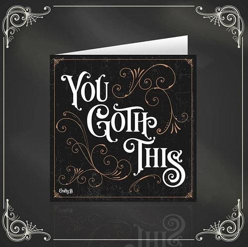 You Goth This gothic & dark greeting card / The Crafty Burreato