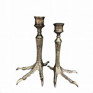 Golden Birdfeet Candleholder - big