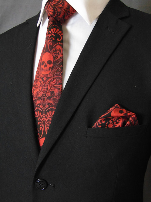 SKULL Necktie, RED