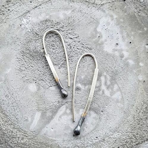 LUCIFER Matchstick earrings / Maureen Centen