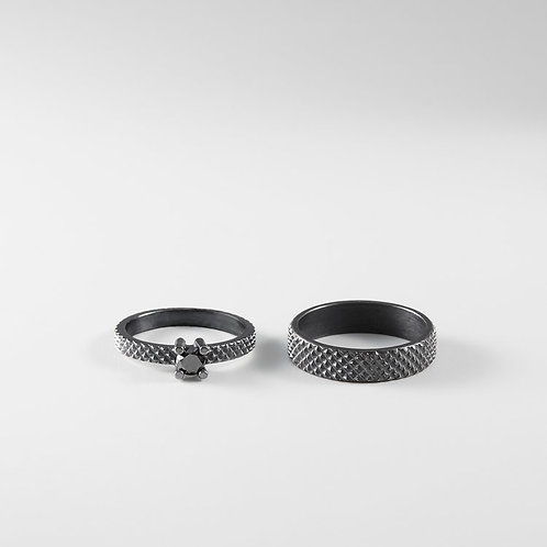 GRIP silver wedding rings / Janni Krogh