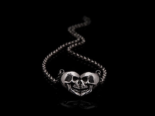 SKULL/HEART necklace/ Rock'n'Gold