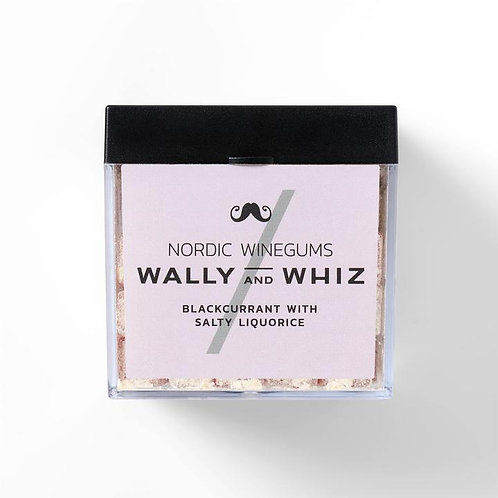 WALLY and WHIZ vegan winegums / blackcurrant with salty liquorice