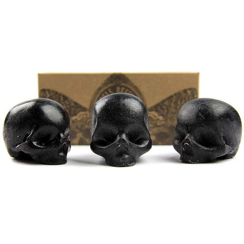 Organic Charcoal & Glycerin Skull Soap / Rebels Refinery