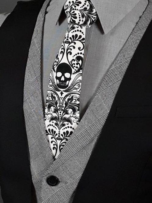 SKULL Necktie, WHITE