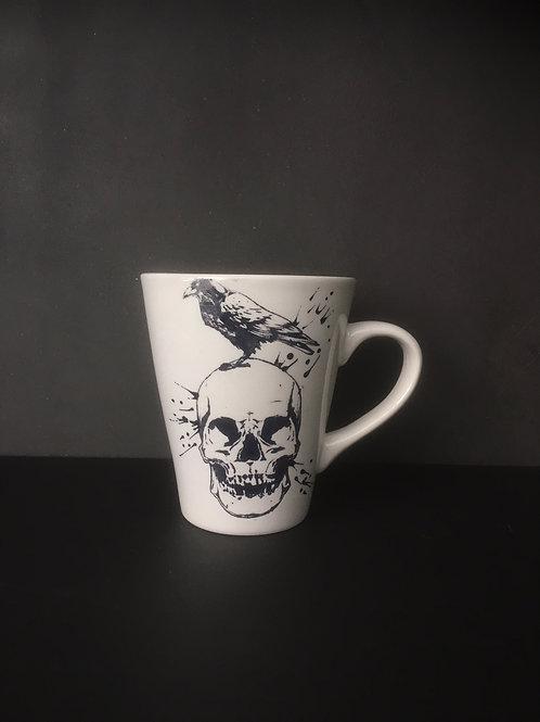 Skull & Raven Conical Mug