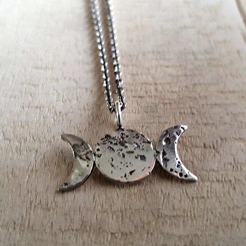 Moon Phase pendant necklace / Maureen Centen