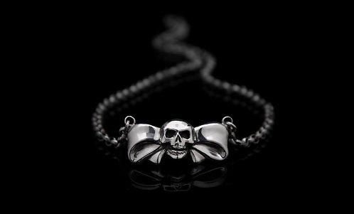 Bow Skull necklace / Rock'n'Gold