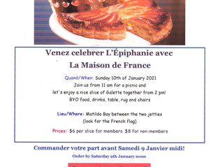 La Galette Des Rois 2021- Please click HERE for booking