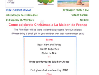 Noel a La Maison De France on Friday 18 December 2020 at Lake Monger Recreation Club