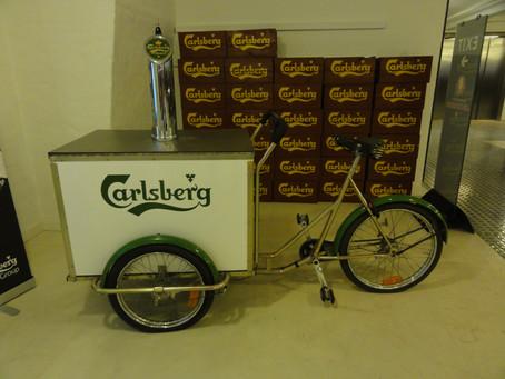 V pivovaru Carlsberg v Kodani