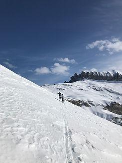 Ski de randonnée avec Du haut des cimes, les Contamines-Montjoie