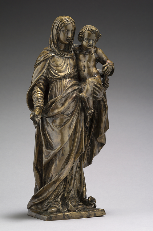 A French bronze sculpture of Mary and Child, circa 1640  (P10)
