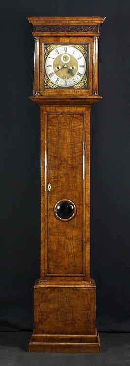 An English walnut longcase clock, 17th century and later (U03)