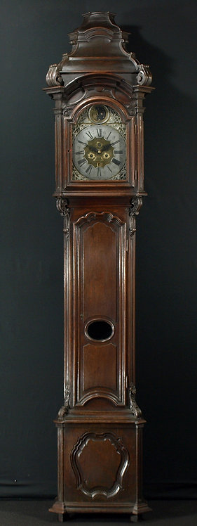 A Belgian oak longcase clock with automation, 18th century  (L21)