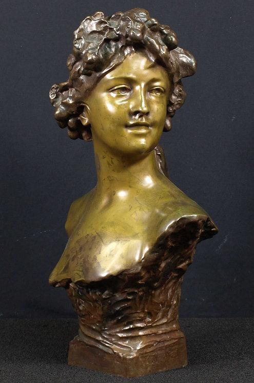 Jef Lambeaux (1852-1908), bronze bust  (F78)