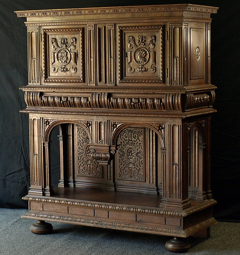 A French walnut credence, 16th century and later  (P18)