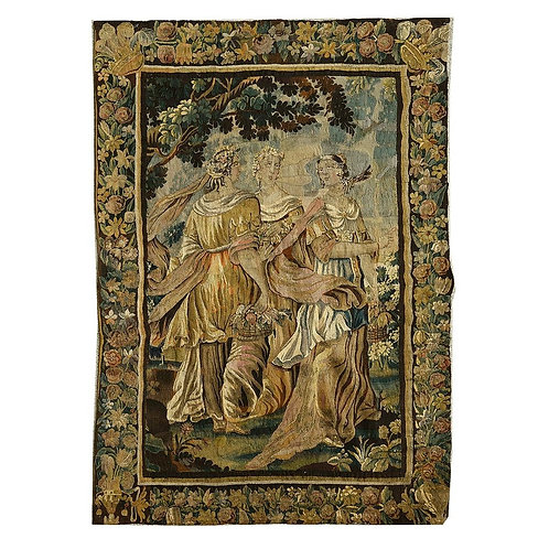 A Continental 17th century wool tapestry (V22)