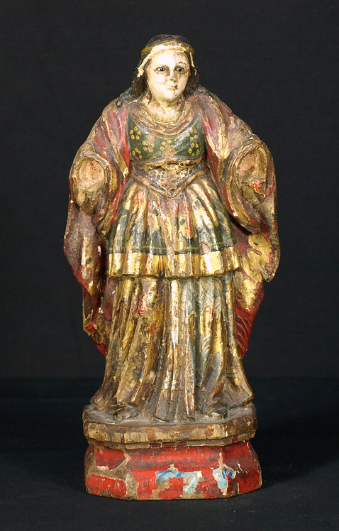 A small polychrome wood sculpture, 17th century  (Q55)