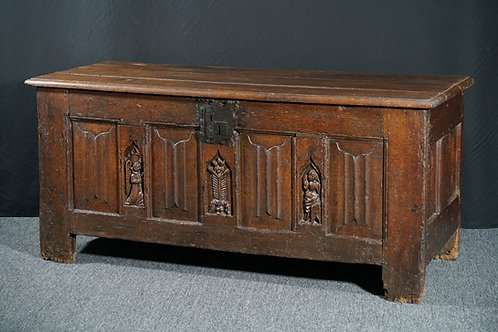 French Gothic oak chest, late 15th / early 16th century (W17)