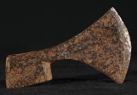 An iron battle ax head, medieval  (G02)