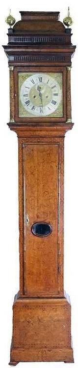 A fine English arabesque marquetry longcase clock, John May, circa 1710 (V03)