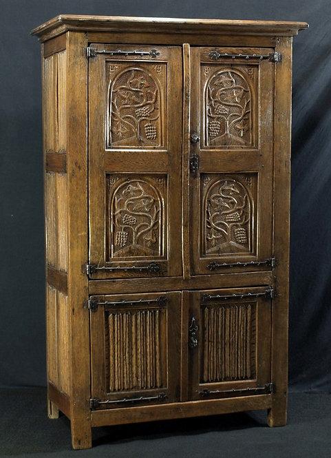 A Flemish oak cupboard, early 16th century  (O02)