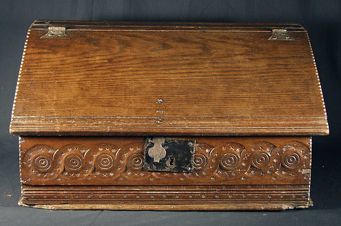 An oak document box  English, 17th century  (H24)