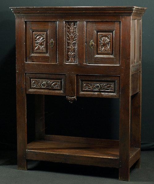 A Flemish renaissance oak dressoir, mid 16th century (L32)