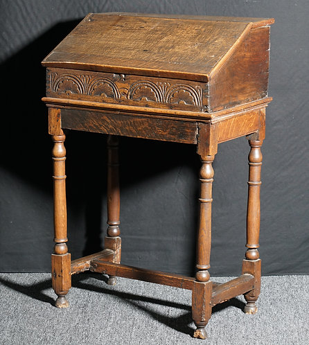 An English document (Bible) box on a stand, 17th century (T04)