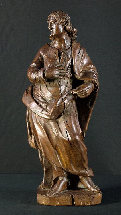 Flemish walnut sculpture of St. John the Evangelist, 17th century  (Q45)