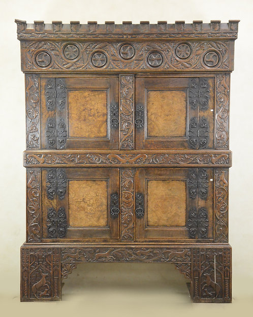 A Tyrolean 16th century style gothic cupboard  (P22)