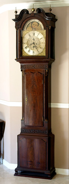 An English mahogany longcase clock, L. Bradley, late 18th century  (O-31)