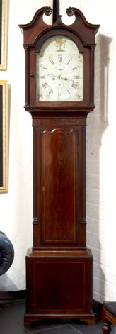 An English mahogany longcase clock, early 19th century  (O24)