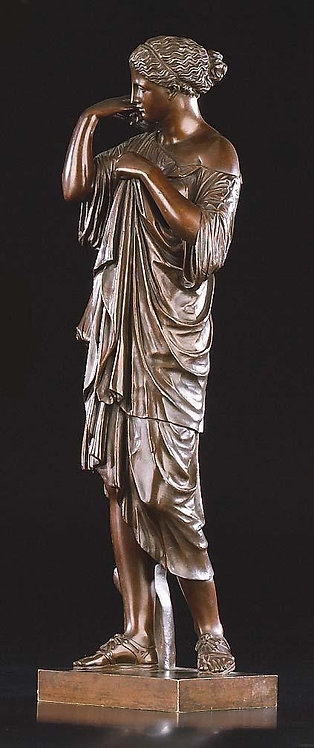 Artemis, after the antique, patinated bronze  (F01)