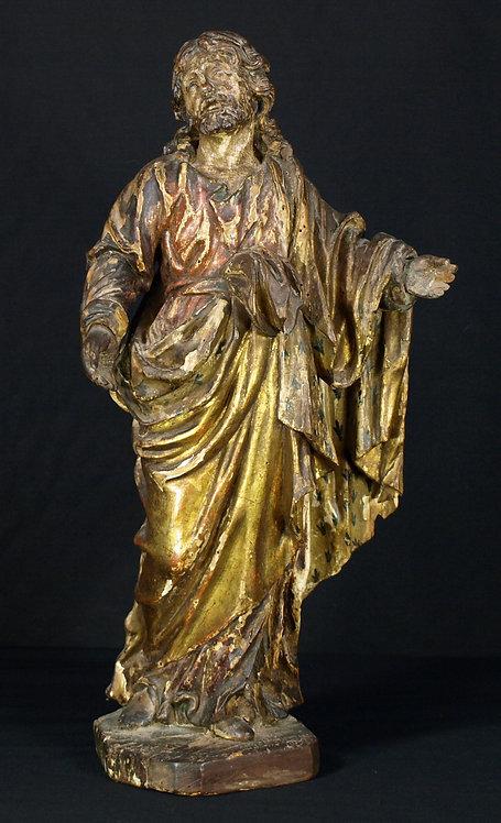 A Spanish polychrome wood sculpture of Christ, 17th century  (Q44)