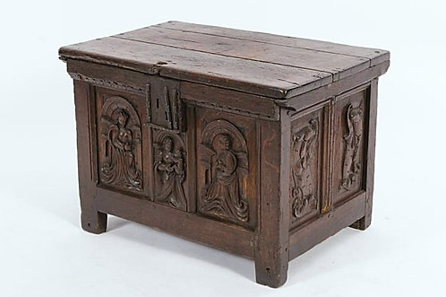 A small Flemish oak chest, mid-16th century  (T01)